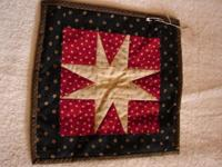 little patchwork star pad/potholder. Bought on Etsy.