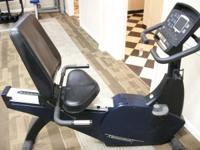 STAR TRAC E SERIES UPRIGHT BIKE.THE UNIT HAS BEEN