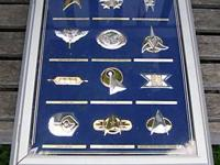 STAR TREK OFFICIAL INSIGNIA COLLECTION IN MINTED SILVER
