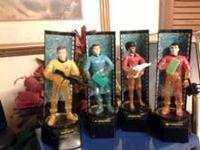 "This is a set of 4 of the Star Trek 8"" characters from"
