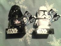 There are two different Star Wars candy dispensers