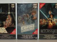 First 3 Released Star Wars Movies on Betamax Star Wars