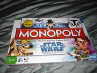 Star Wars the Clone Wars Monopoly Game. New, never been