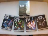 The 4 DVD set of the Star Wars Trilogy contains: . The