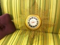 "Starburst Clock 24"" Diameter $95 Mid Century Atomic"