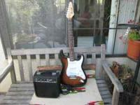 Starcaster fender electric guitar with SP.10 AMP. 22