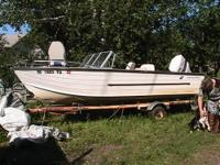 REDUCED Very roomy 16' Starcraft boat 85 hp U.S. Force.