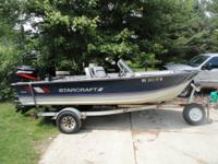 16 foot StarCraft boat with 2003 90HP Mercury outboard