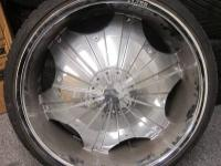 STARR CHROME RIMS & TIRES 24 INCH 5 LUGS - 5X5.0 /