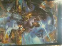 STAR WARS PAINTING. GREAT CONDITION, FRAMED. GOT IT FOR