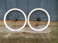 WHITE track wheelset for single- OR fixed-speed bikes
