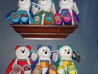 Complete set of collectible State Coin Bears (50 plus