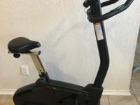 Stationary bicycle in like-new condition. Built in