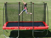 The Stats 12 ft. Rectangle Trampoline and Enclosure is