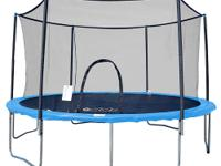 This foot diameter trampoline and enclosure set