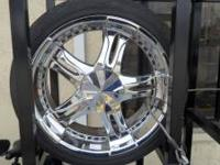 "I have in very good condition 22"" Crome Rims. Mention"