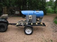 Delco steam cleaner/pressure washer mounted on over the