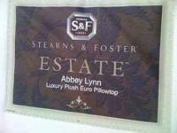 The Stearns and Foster Abbey Lynn Plush Euro Pillow Top