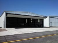 Steel 50x60 hangar for sale. Located at Laurel airport