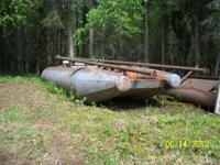 This barge is made out of 42 inch pipe and box in ,with