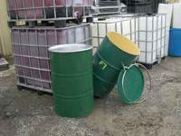 clean 55 gal steel barrels.....safe ..had fruit juice
