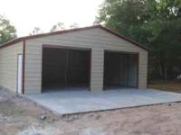 (Top left picture is a 30X31X8 Boxed Eave style garage