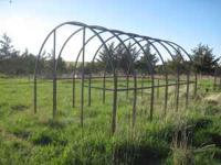 A sturdy built greenhouse frame constructed from 1&1/4