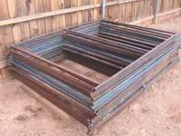 "Steel racks made of 1"" square steel tubing, 7' tall x"
