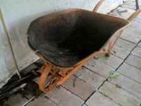 this is a solid steel wheelbarrow must sell 75.00 or
