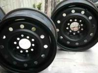 "I have two pair of 14"" Steel Rims.$25.00 ea. One pair"