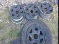 "I have four steel wheels 15"" 6 lug for sale take them"