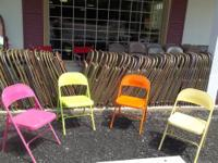Steel folding chairs - hundreds to choose from $6 each
