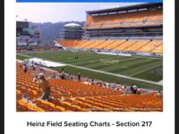 Steeler tickets 1-14-18. Section 217, 2 tickets