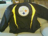 Very good condition, heavy NFL Steelers Jacket, size