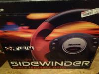 for sale  a sidewinder  microsoft racing steering wheel
