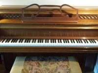 Steinway King Louis XV style upright. Walnut. 1960s.