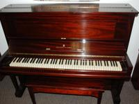 Steinway Upright, Red Mahogany This 50 Steinway upright