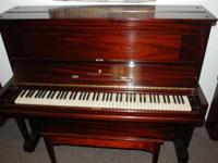 Steinway Upright, Red Mahogany, Model V This 50