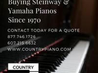 We are seeking Steinway / Yamaha Piano to buy. If you