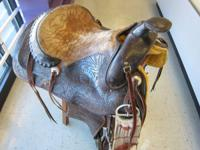 This is a horse saddle we are selling-- Produced by