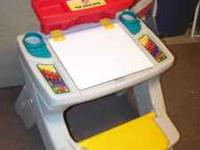 A step 2 art desk , as you can see in the pic it is in