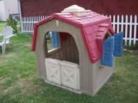 For sale is a Step 2 outside Barn shape Play House. Soo
