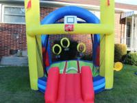 Step 2 inflatable jump and slide bouncy. Very good