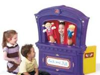 It's show time! Our new Puppet Theater encourages