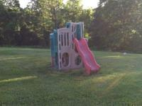 Retired STEP 2 Gym with slides, very sturdy plastic,