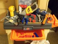 Step 2 Workbench with tools, drill, many extras, vice,