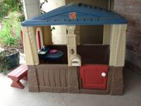 Great condition Step One outdoor play house.  Has