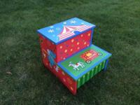 Circus step stool with storage This ad was posted with