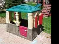 Up for sale we have a step 2 neat and tidy playhouse.