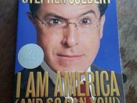 Selling a copy of Stephen Colbert's bestseller, I Am